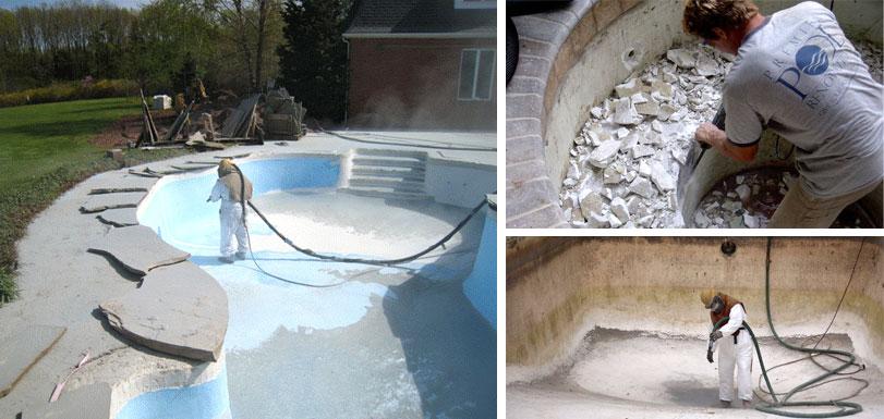 Premier Pool Renovations Sand Blasting